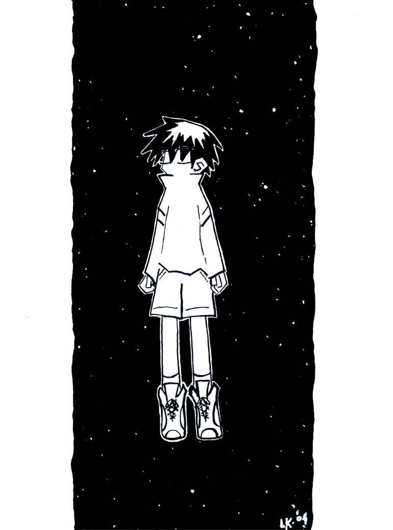 floating in the dark.