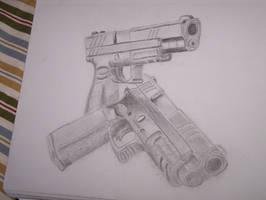 guns by TheBlackQueenFA