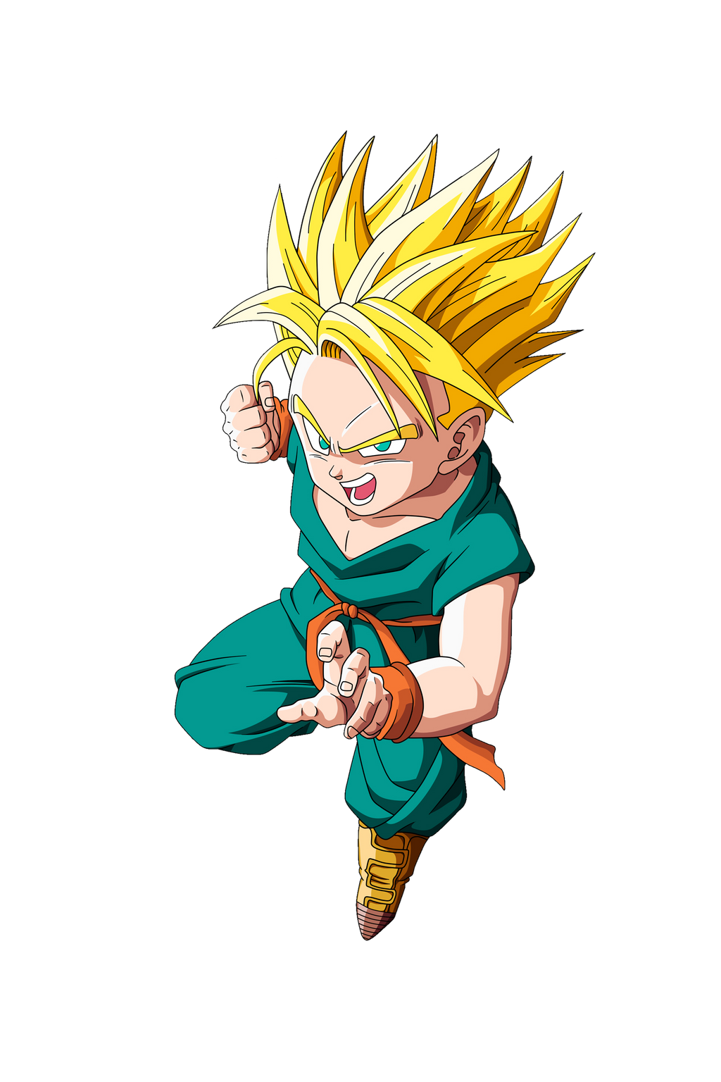 Kid Gotenk And Kid Trunks Super Sainy Free Coloring Pages