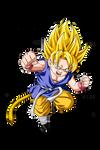 DBGT Kid Goku SSJ Render