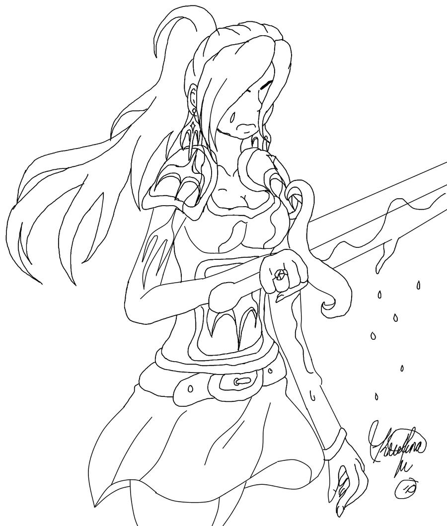 Warrior Princess Coloring Pages : Warrior princess by gothicjapan on deviantart