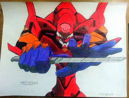 Evangelion Unit - 002 by Midieka
