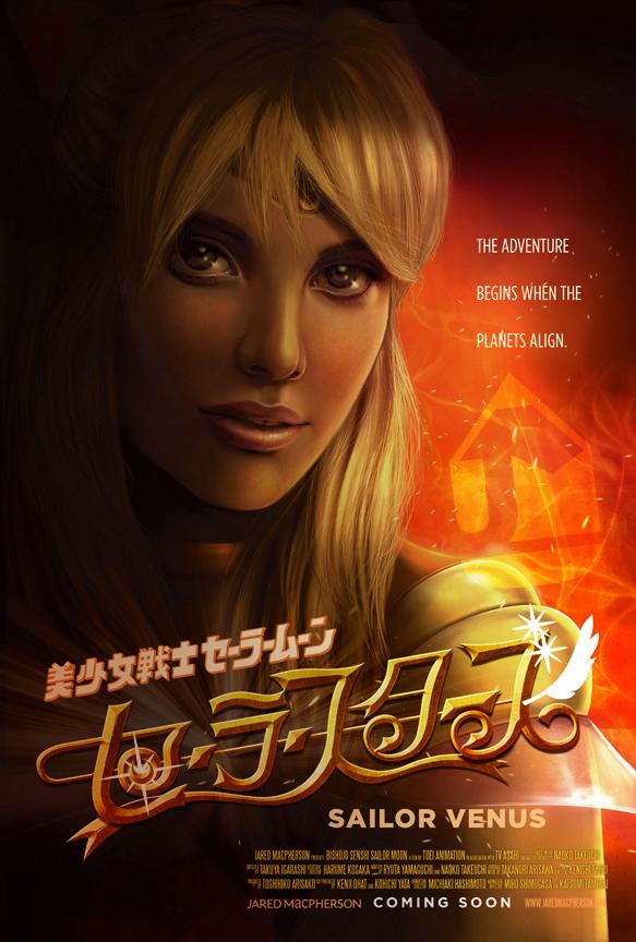 Sailor Venus Character Poster by jaredmacpherson