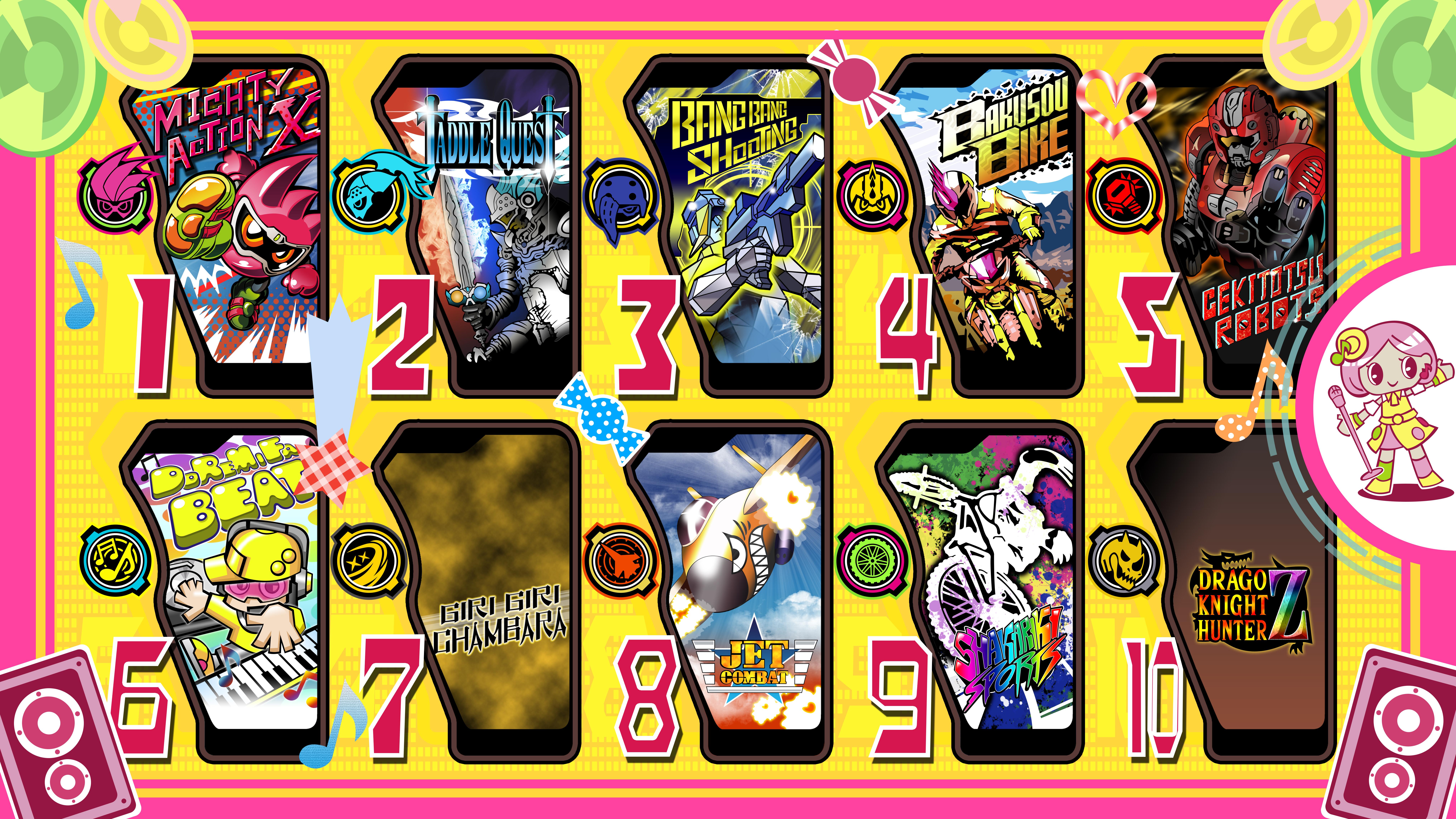 Kamen Rider Ex-Aid Games PC Wallpaper by raidenzein