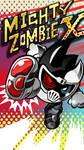 Mighty Zombie X Phone Wallpaper