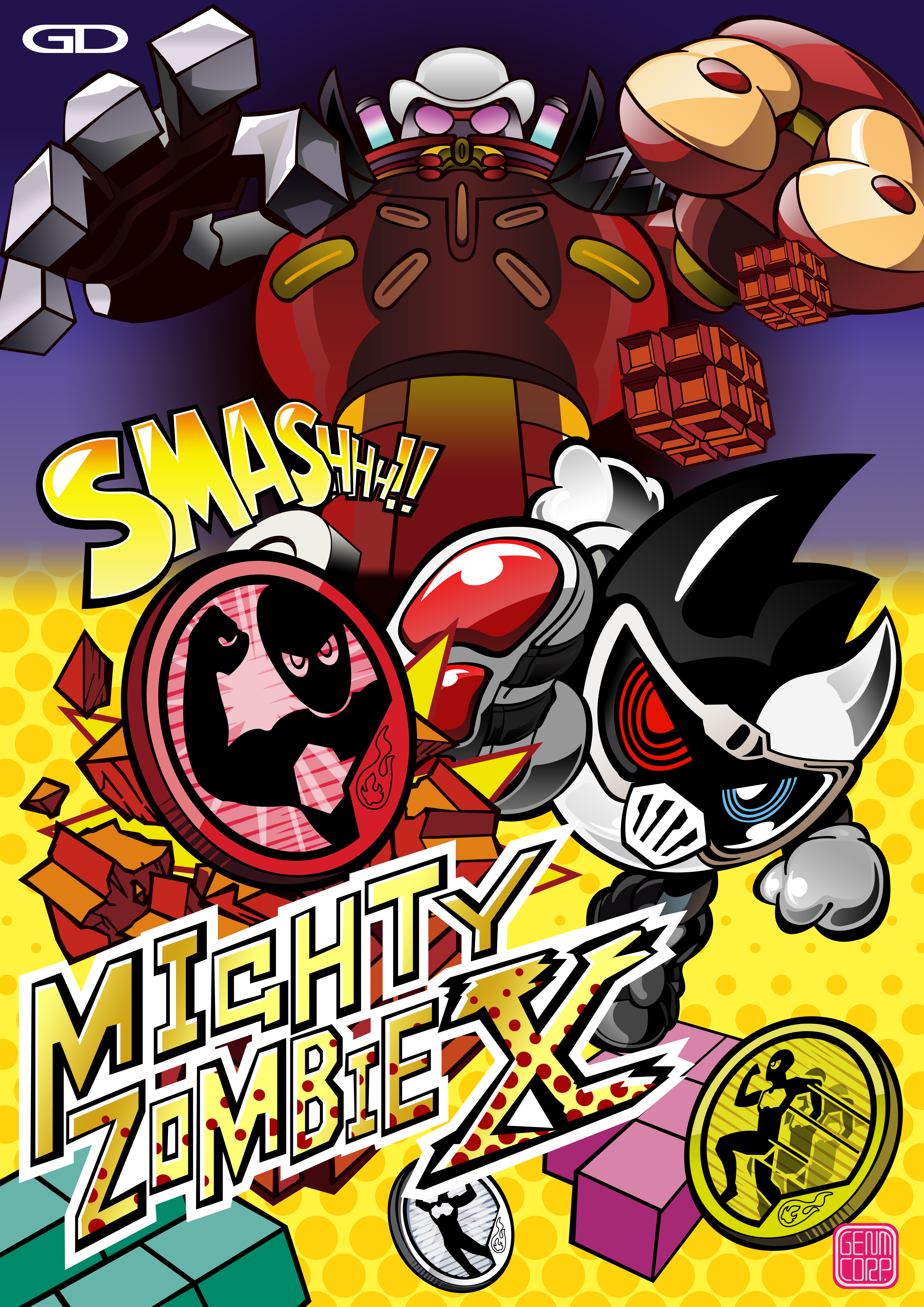 Mighty Zombie X Game Poster by raidenzein