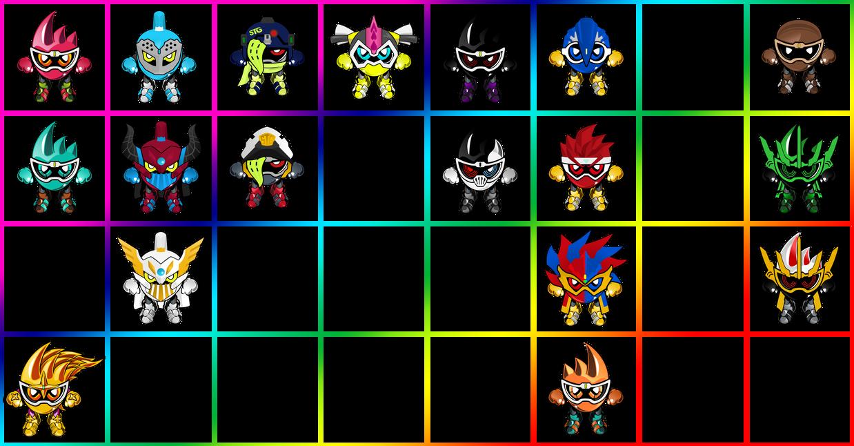 Kamen Rider Ex-Aid All Mightys by raidenzein