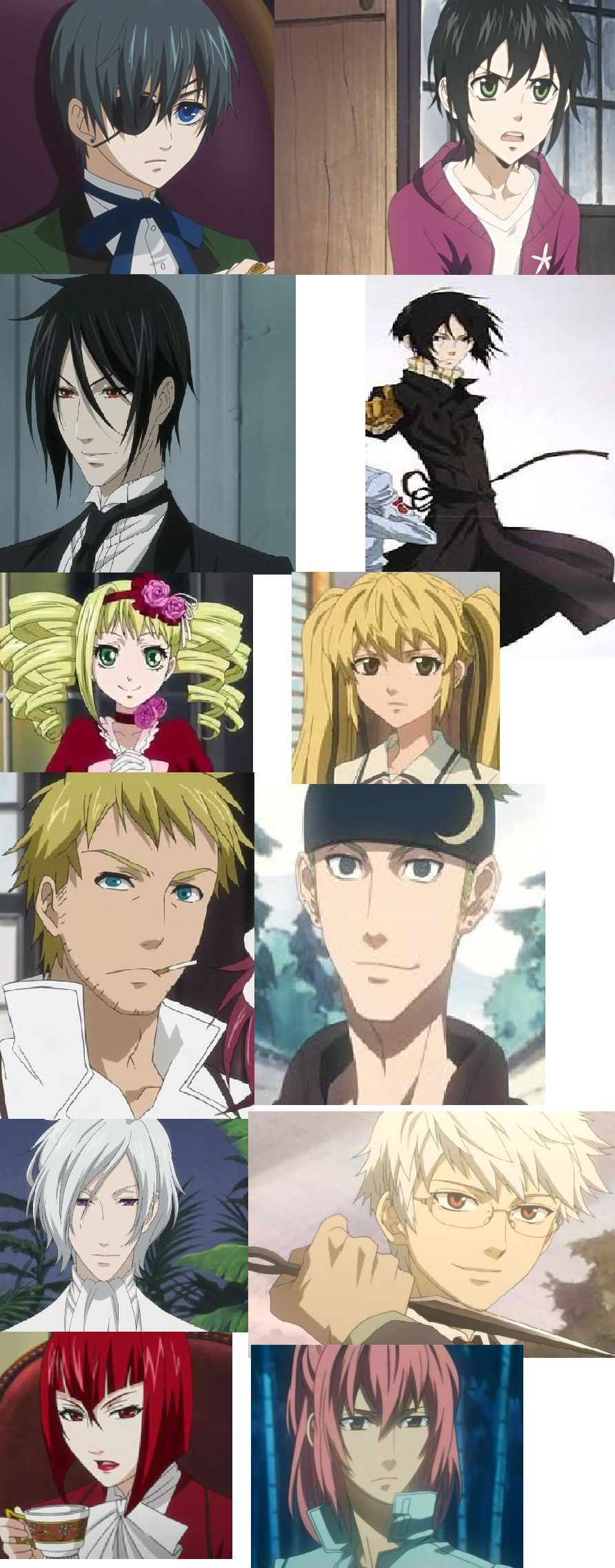 Black Butler/Nabari no Ou character comparisons by ... Nabari No Ou Characters