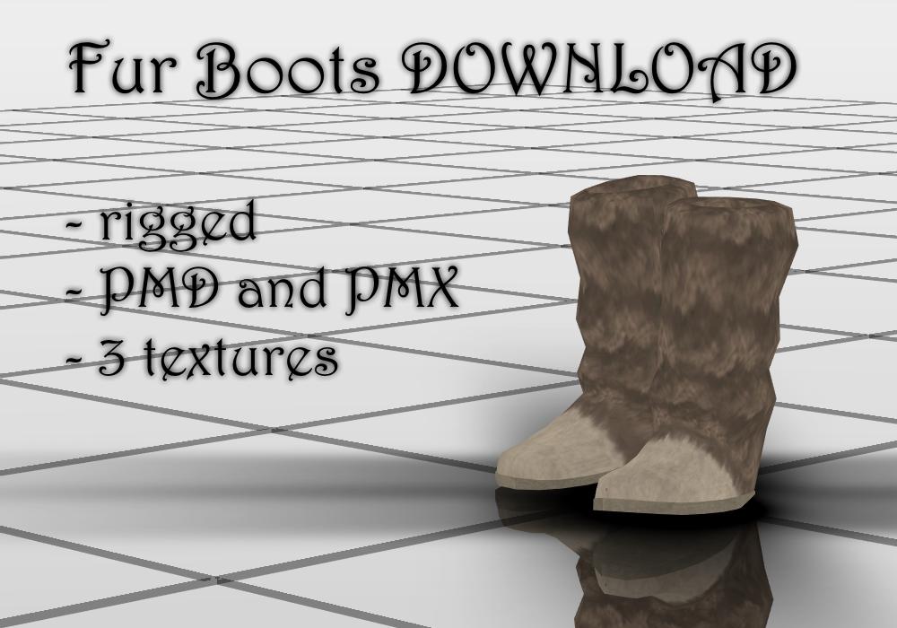 Fur Boots DOWNLOAD by KohakuUme6