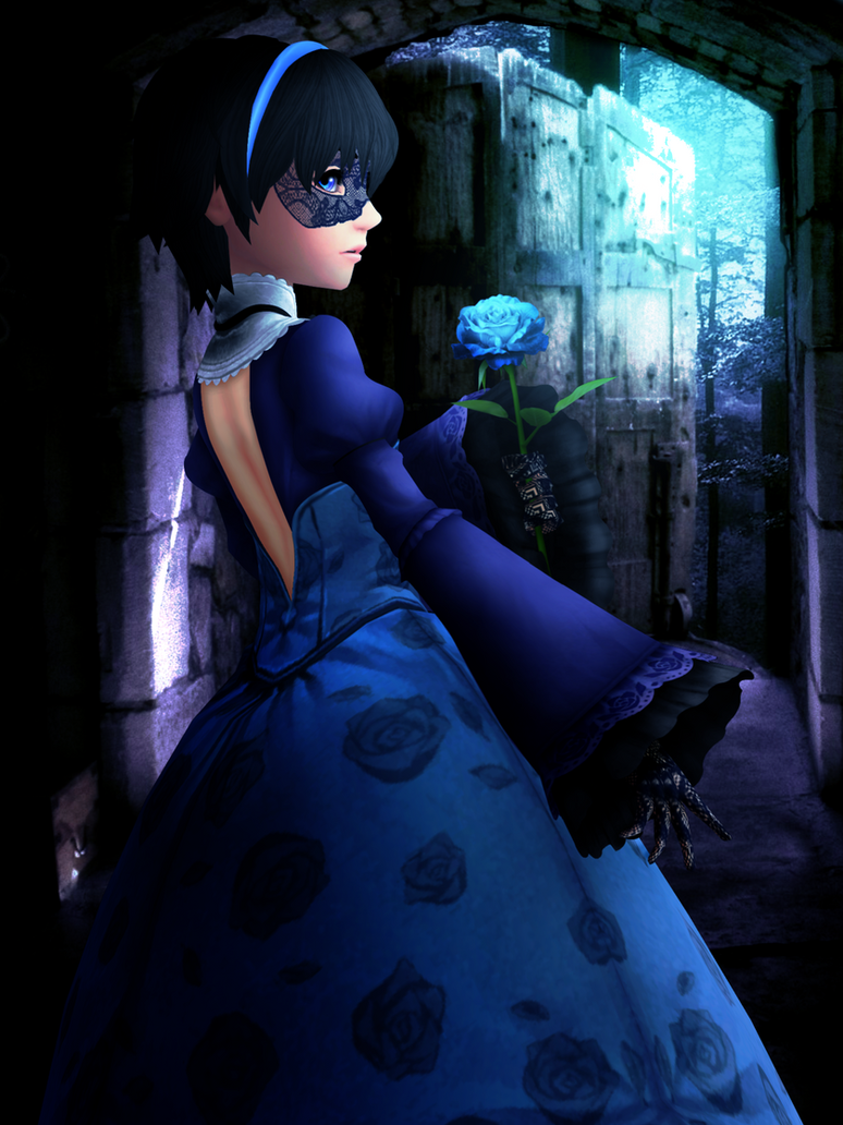 Mysterious Blue Girl by Reseliee