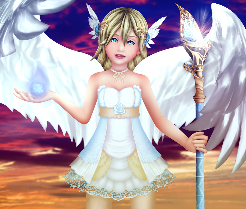 Blonde Angel by Reseliee