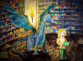 Dragon's library by NorthernLantern