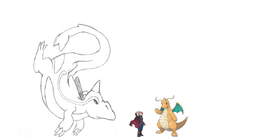 Dragonite paleo forme size comparision by PerfectChaos22