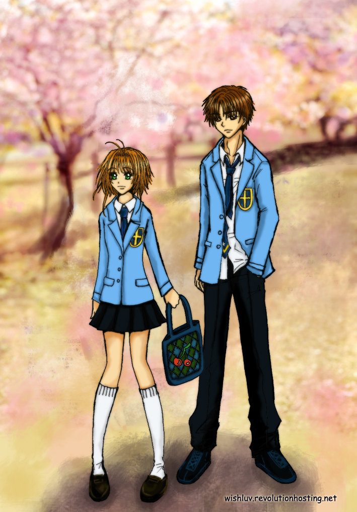Sakura and Syaoran Seijou High by wishluv