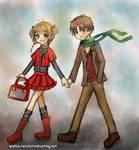 Young Sakura and Syaoran Date