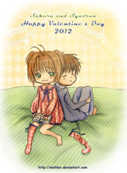 Sakura and Syaoran Valentine's Day by wishluv