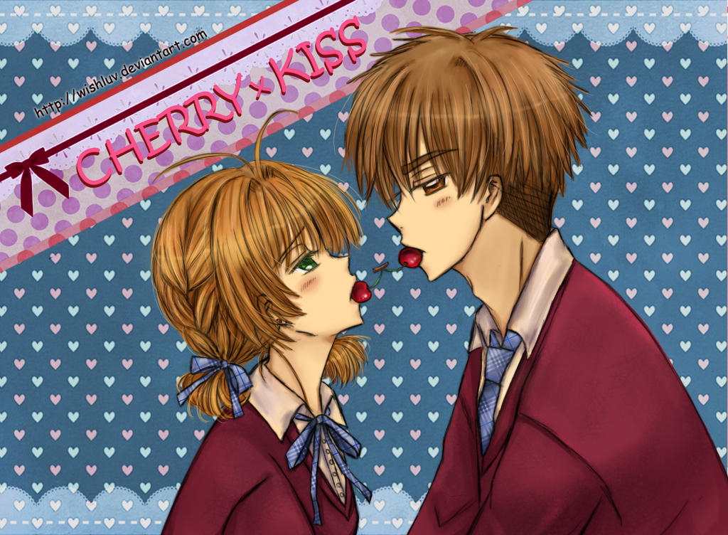 Sakura x Syaoran - Valentine's Day Cherry Kiss by wishluv