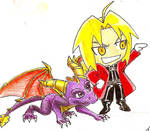 Chibi Ed and Spyro