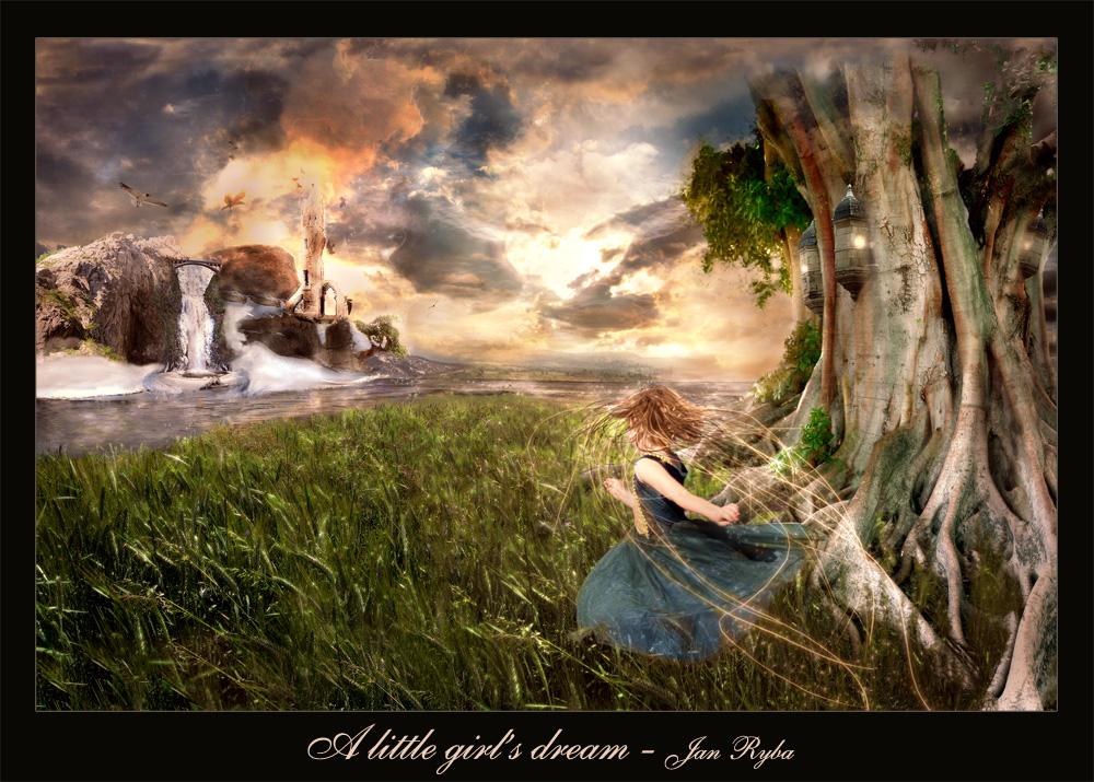 A little girl's dream by Ythren