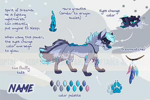 Adoptable Spirit Wolf 2 [OPEN] by KaiHiWolf