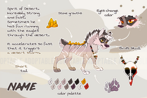 Adoptable Spirit Wolf 1 [OPEN] by KaiHiWolf