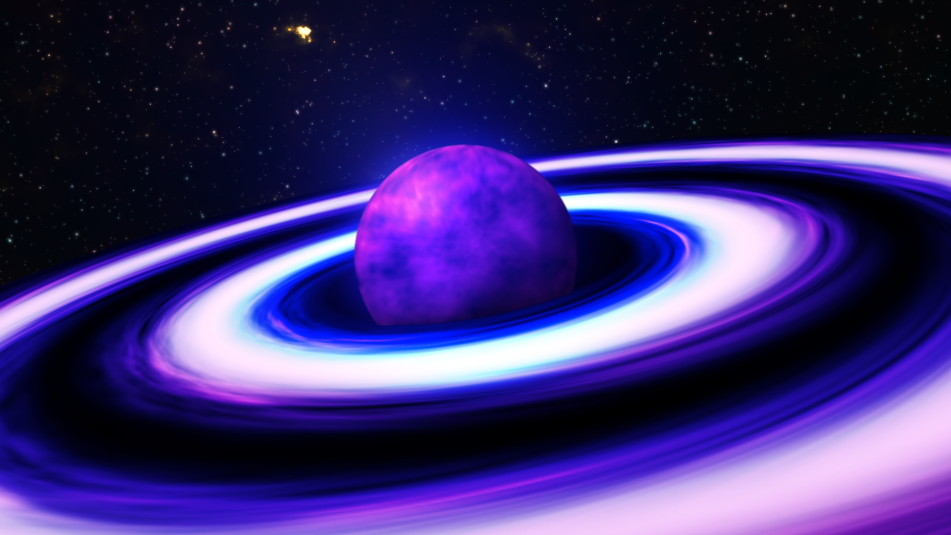 Pin Purple Planets On Colorful Sky Wallpaper 1366x768 on ...