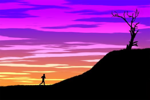 Running to the destination
