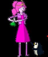 adventure time Princess Bubblegum and Gunter part1 by wilcox6