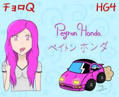 Choro-Q HG 4 - Peyton Honda by MaisyDaydream