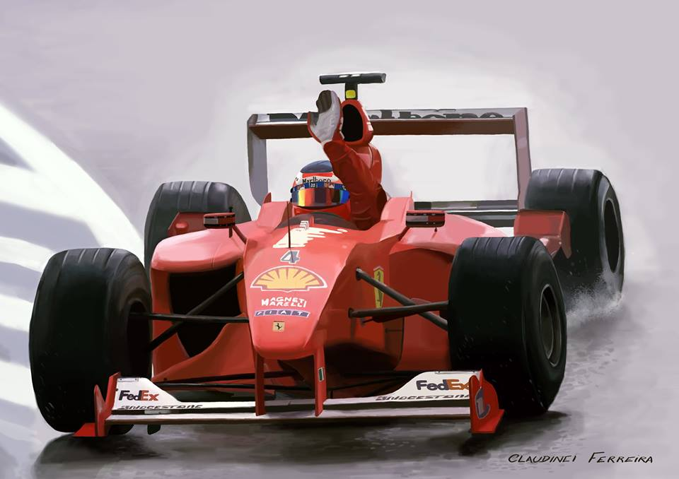 Ferrari Rubens Barrichello by claudineiart