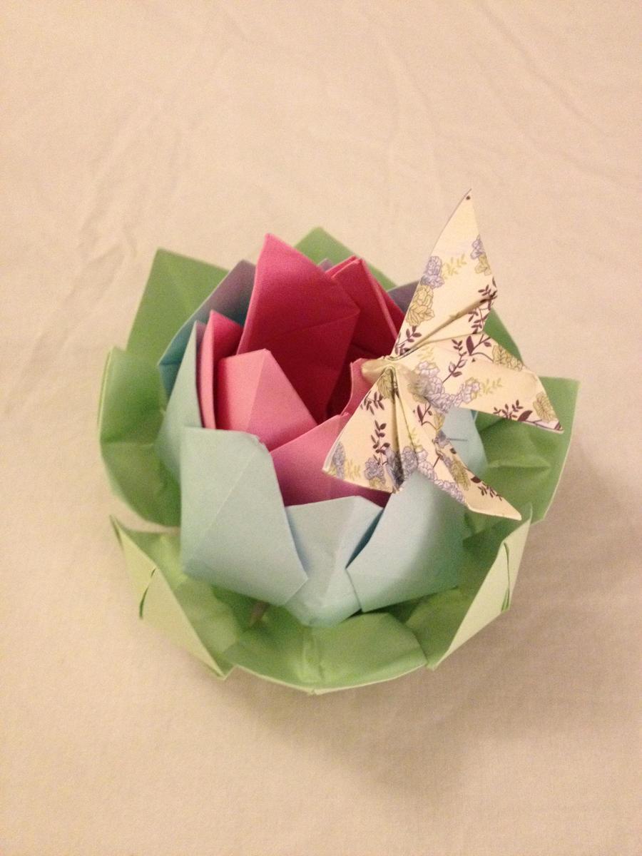 Origami Lotus Flower Hairclip By Origarti On Deviantart