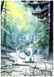 Glaceon in the forest