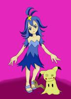Acerola and Mimikyu (Pokemon SM) by Bloodsword-art