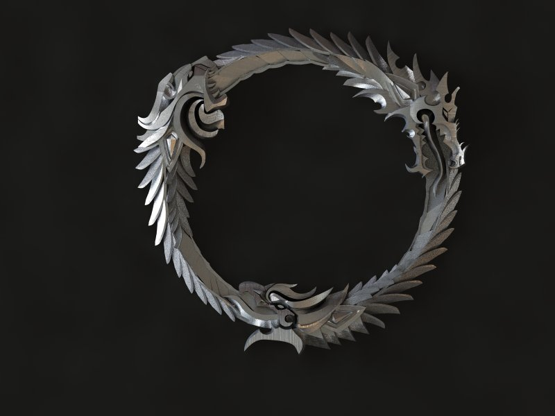The Elder Scrolls Online Logo Silver by Worldofjewelcraft
