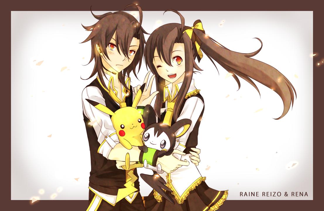 Raine Reizo and Rena (+3 years) by Deiyanoko