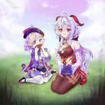 [Fan Art] Qiqi and Ganyu