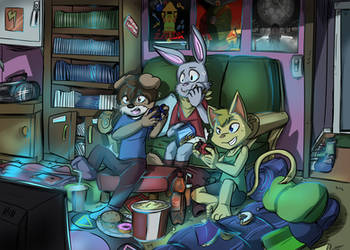 Gaming Night - Bezooca by CaligoMWknight
