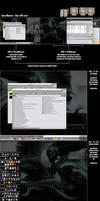 Giger 3-Screen 2CPU desktop by Synbryo