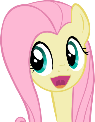 Fluttershy happy face ...
