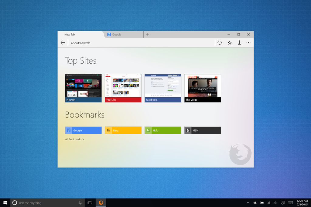 Firefox for Windows 10 by link6155