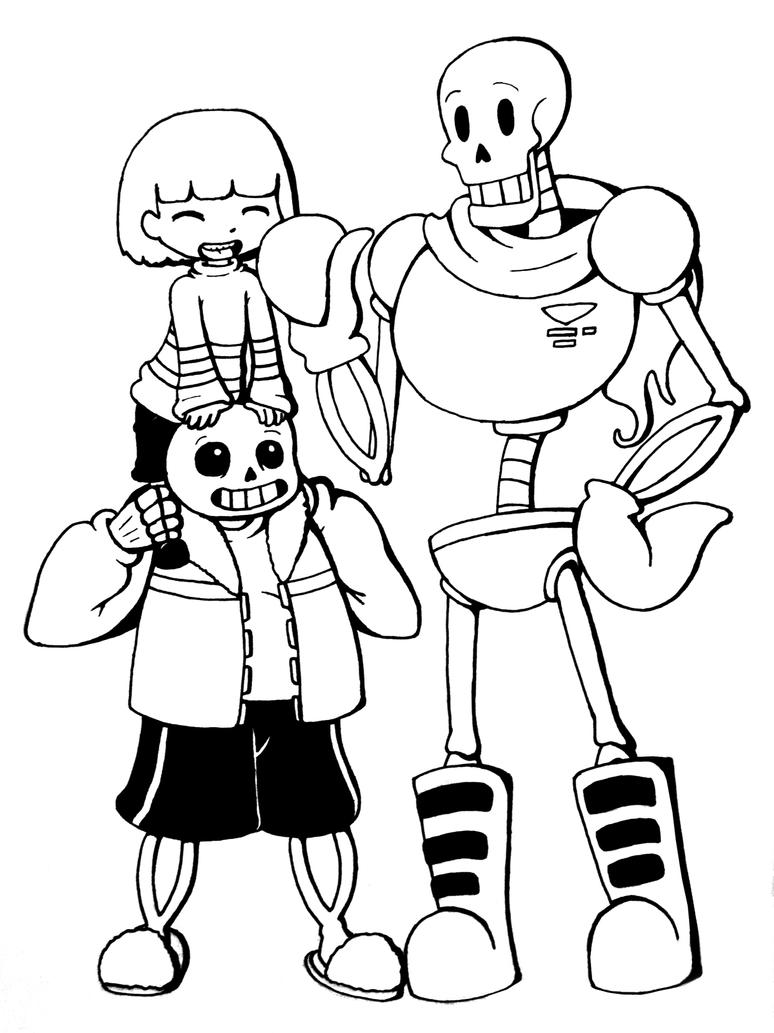 Undertale Trio: Frisk, Sans and Papyrus by Chiherah on ...