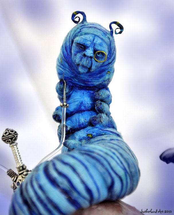 Blue Caterpillar Alice Cake Ideas And Designs