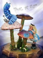 Alice meeting the Caterpillar by SutherlandArt