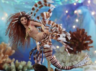 Scorpion Fish Mermaid by SutherlandArt