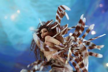 Lion Fish mermaid by SutherlandArt