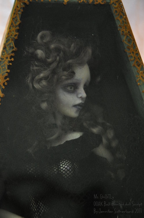 Gothic Ghost Ball jointed doll by SutherlandArt
