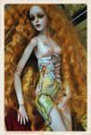 Ophelia's body art Mucha Style.. bjd art doll