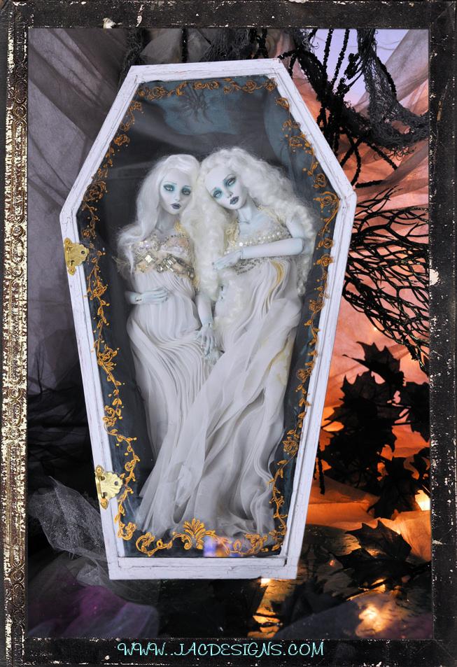 Vampire Twins bjd Ball jointed dolls by SutherlandArt