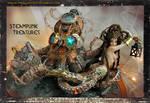 Steampunk Treasures Steam punk Mermaid and Octopus