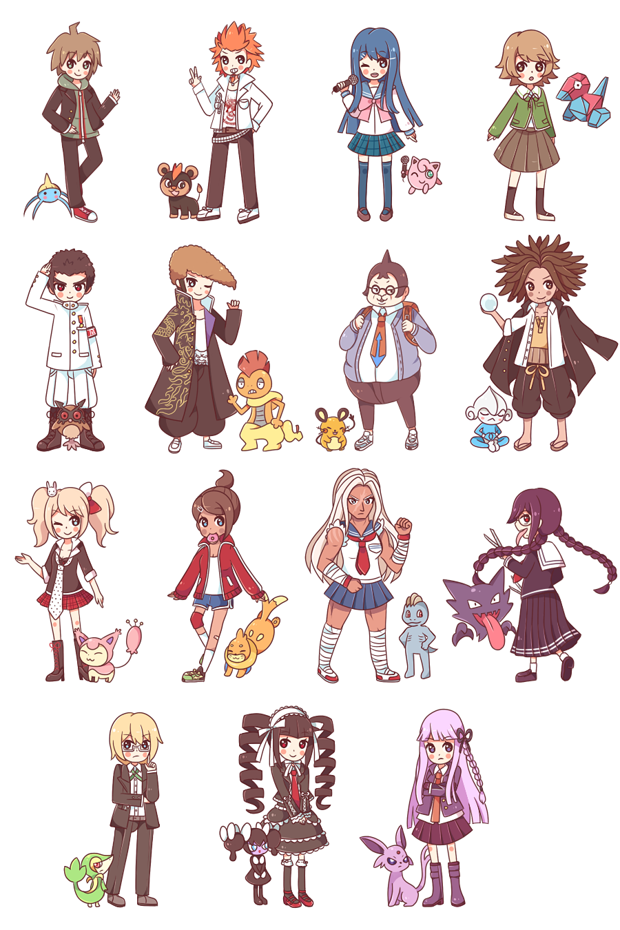 Dangan Ronpa Pixel Tumblr Dangan Ronpa x Pokemon...